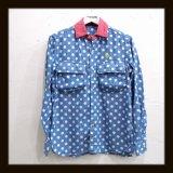ALDIES アールディーズ ☆ アーミーポケットドットシャツ BLUE2