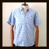HAOMING ハオミン ☆ LUCHA LIBRE Pattern Wash OX Short Sleeve Shirts