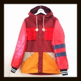 ALDIES アールディーズ ☆ Leather Sleeve Mountain Parkat RED