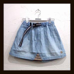 画像1: ALDIES アールディーズ ☆ ウォッシュデニムクライミングスカート LtBLUE