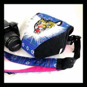 画像1: HAOMING × Ficouture ☆ CAMERA CASE BLUE