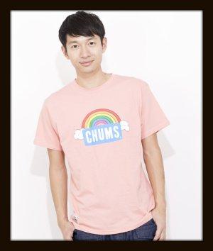 画像1: CHUMS チャムス ☆ レインボーロゴTシャツ