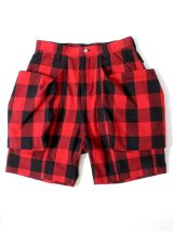TROVE トローヴ x 岡部文彦 ☆ BIG POCKET SHORTS ( BUFFALO CHECK )